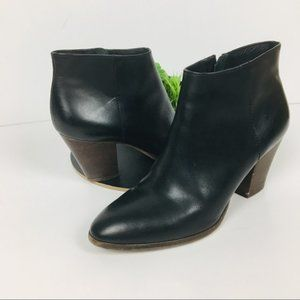 The Perfect J. Crew Black Leather Ankle Boot 8